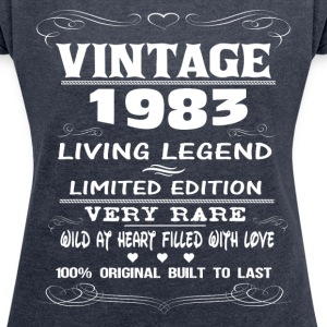 VINTAGE 1983-LIVING LEGEND T-Shirts - Women's T-shirt with rolled up sleeves