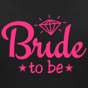 bride to be with diamond 1c T-shirts - Vrouwen T-shirt met V-hals