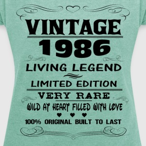 VINTAGE 1986-LIVING LEGEND T-Shirts - Women's T-shirt with rolled up sleeves