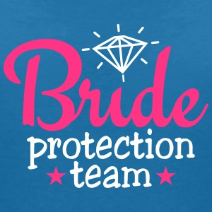 bride protection team 2c / bride security  T-shirts - Vrouwen T-shirt met V-hals
