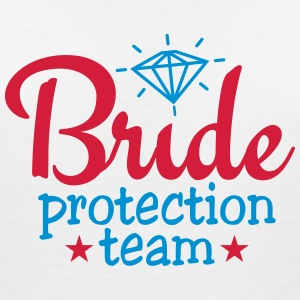 bride protection team 2c / bride security  T-skjorter - T-skjorte med V-utsnitt for kvinner