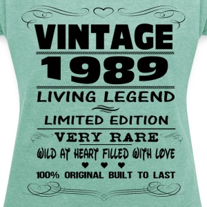 VINTAGE 1989-LIVING LEGEND T-Shirts - Women's T-shirt with rolled up sleeves