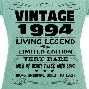 VINTAGE 1994-LIVING LEGEND T-Shirts - Women's T-shirt with rolled up sleeves