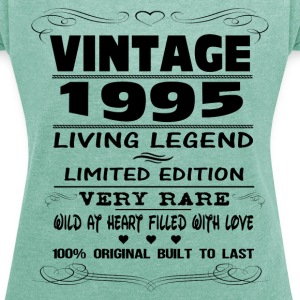 VINTAGE 1995-LIVING LEGEND T-Shirts - Women's T-shirt with rolled up sleeves