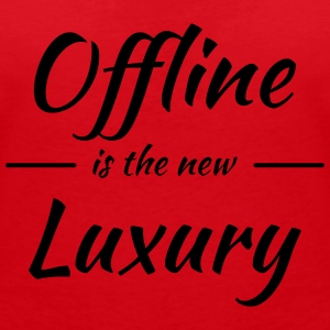 Offline is the new luxury Camisetas - Camiseta con escote en pico mujer