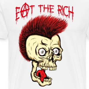 MC VICE - Eat The Rich (Vintage / For White) T-Shirts - Männer Premium T-Shirt
