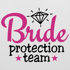 bride protection team 2c / bride security  Taschen & Rucksäcke - Stoffbeutel