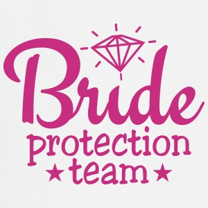 bride protection team 1c / bride security   Aprons - Cooking Apron