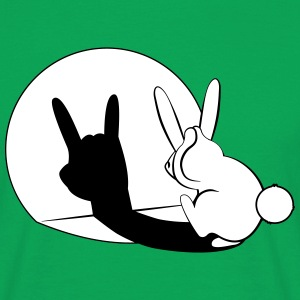Bunny Horn Gesture Shadow T-shirts - T-shirt herr