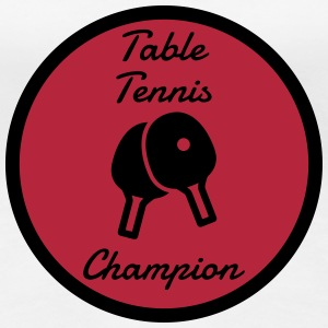 Table Tennis - Ping Pong - Sport - Racket - Ball T-Shirts - Women's Premium T-Shirt