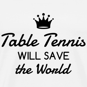 Table Tennis - Ping Pong - Sport - Racket - Ball Camisetas - Camiseta premium hombre