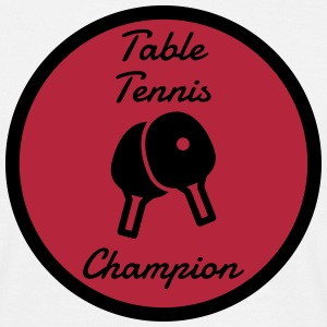 Table Tennis - Ping Pong - Sport - Racket - Ball T-skjorter - T-skjorte for menn