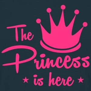 the princess is here with royal crown T-Shirts - Men's T-Shirt