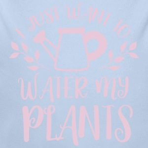 i just want to water my plants Baby Bodysuits - Longlseeve Baby Bodysuit