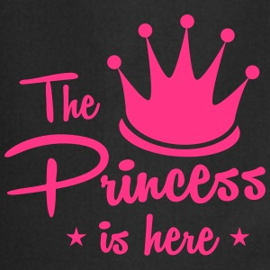 the princess is here with royal crown  Aprons - Cooking Apron
