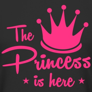 the princess is here with royal crown T-Shirts - Men's Long Body Urban Tee