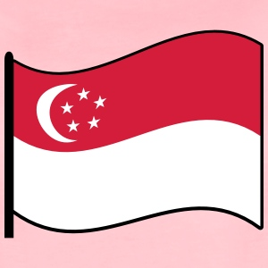 waving singapore flag T-Shirts - Women's Premium T-Shirt