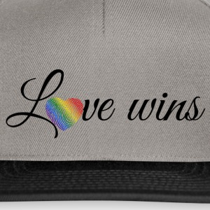 Love Wins Black Caps & Hats - Snapback Cap