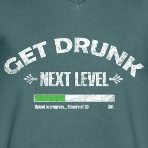 Get Drunk Next level T-shirts - Mannen T-shirt met V-hals