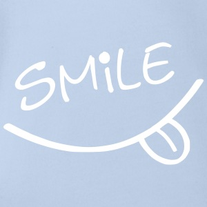 Happy Smile Babybody - Økologisk kortermet baby-body