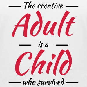 The creative adult is a child who survived T-skjorter - T-skjorte med V-utsnitt for kvinner