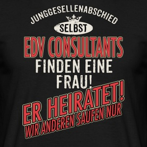 JGA Team - EDV Consultant - US clean Style red grey - RAHMENLOS Berufe Geschenk T-Shirts - Männer T-Shirt