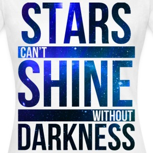 (STARS CAN'T SHINE WITHOUT DARKNESS) Blue Galaxy T-Shirts - Women's T-Shirt