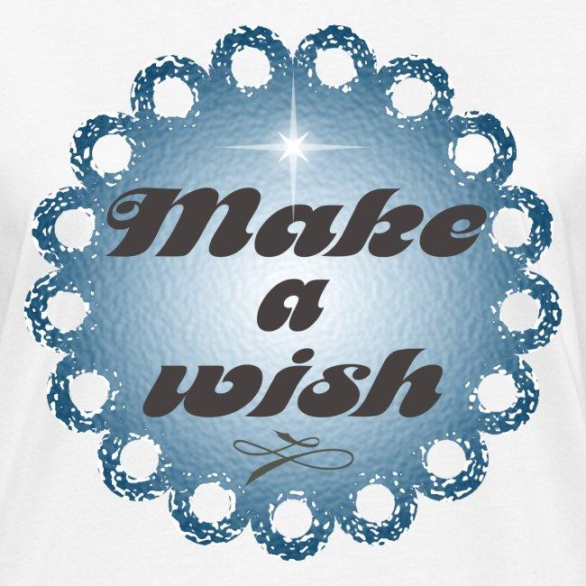 Tshirt en coton Bio Make a wish
