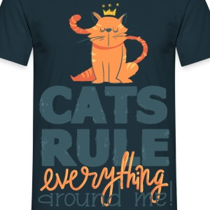 Navy Cats rule everything around me T-Shirts - Men's T-Shirt