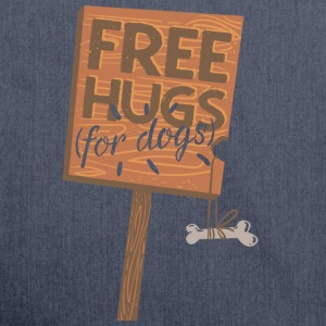 Free hugs for dogs - Schultertasche aus Recycling-Material