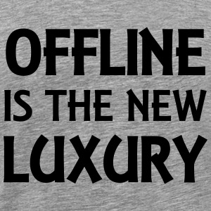 Offline is the new luxury T-shirts - Herre premium T-shirt