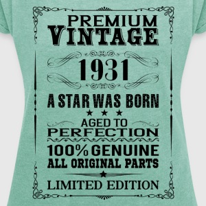 PREMIUM VINTAGE 1931 T-Shirts - Women's T-shirt with rolled up sleeves