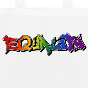 Equality Graffiti Shadows Bags & Backpacks - EarthPositive Tote Bag