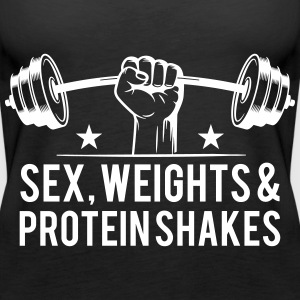 Sex weights and protein shakes Tops - Frauen Premium Tank Top