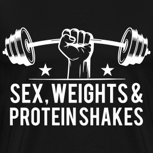 Sex weights and protein shakes T-Shirts - Männer Premium T-Shirt