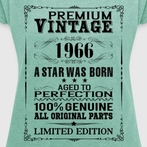 PREMIUM VINTAGE 1966 T-Shirts - Women's T-shirt with rolled up sleeves
