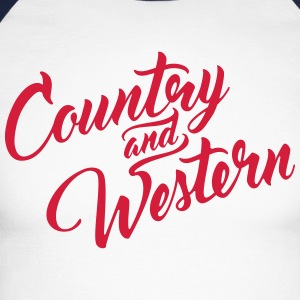 Country and Western - Männer Baseballshirt langarm