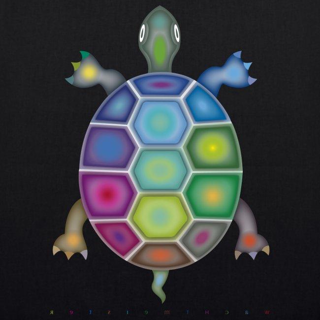 Bio-Stoffbeutel mit Farbenschildkröte