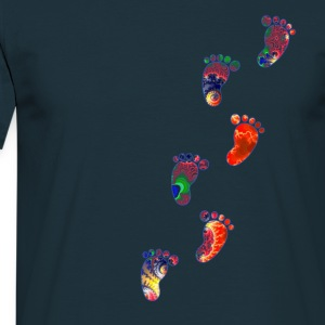 Hippie Feet Visions - Men's T-Shirt