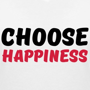 Choose happiness T-shirts - T-shirt med v-ringning dam