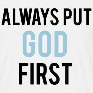 Always put GOD first T-shirts - Herre-T-shirt