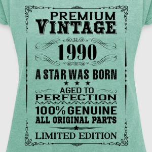 PREMIUM VINTAGE 1990 T-Shirts - Women's T-shirt with rolled up sleeves