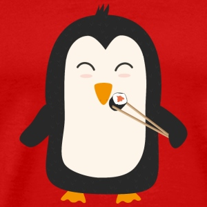 Penguin with sushi T-Shirts - Men's Premium T-Shirt