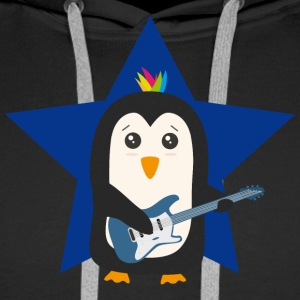 Rock Guitar Penguin Hoodies & Sweatshirts - Men's Premium Hoodie