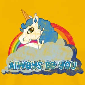 Always be you (Unicorn) grunge T-Shirts - Männer Premium T-Shirt