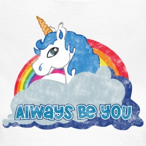 Always be you (Unicorn) grunge T-Shirts - Frauen T-Shirt
