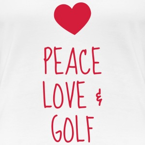 Golf - Sport - Golfer - Club - Green - Game - Play T-shirts - Dame premium T-shirt