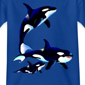 Orca Family - Kinder T-Shirt