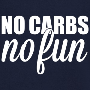 no carbs no fun T-shirts - T-shirt med v-ringning herr