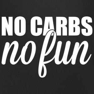 no carbs no fun T-shirts - Mannen T-shirt met V-hals
